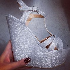 Sparkly Glitter Wedges