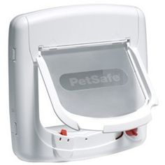 PetSafe Staywell Magnetic 4 Way Locking Deluxe Cat Flap White - cat Door Pet Door, Curious Cat, Door Sets, Red Cat, Bird Toys, Cat Supplies, Cat Collars, Animal House, Wooden Doors