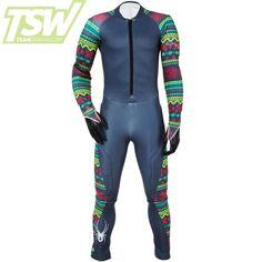 Spyder Damen Nine Ninety GS Rennanzug - Ebony Ski Racing, Ski Wear, Blue Camo, Wetsuit, Skiing, Thighs, Suits, Contour, How To Wear