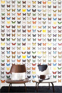 Vlindertjes zijn de nieuwste trend voor de babykamer. Kijk dit behang van Onszelf!