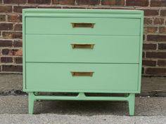 Mid Century Dresser In Mint Green (RESERVED). $300.00, via Etsy.