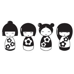 Kokeshi dolls - Sticker                                                                                                                                                                                 More