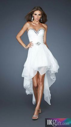 Stunning Light Sky Blue Sweetheart Long Beaded Chiffon Prom Dress ...