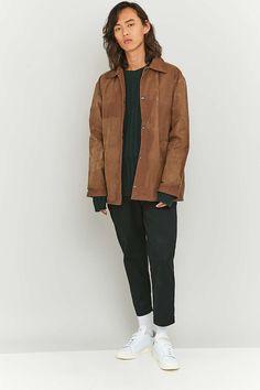 Urban Renewal Vintage Re-Made Brown Wax Coach Jacket