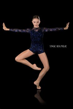 Royal Blue Sequin Black Lace Unitard Lyrical Jazz Contemporary Dance Costume, Gi in Clothing, Shoes, Accessories, Costumes, Girl's Costumes | eBay!