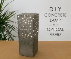 In this Instructable I'm going to make a concrete lamp with optical fibers. I'm always impressed by concrete projects, especially when they are combined...