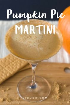 Is pumpkin pie your favorite #Thanksgiving dessert? It's time to make it one of your favorite holiday #cocktails! With the addition of rum and vodka, this is the ultimate fall upgrade on the classic Martini!