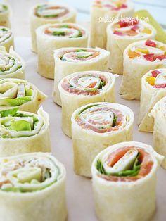 Mini Appetizers, Appetizer Recipes, Good Food, Yummy Food, Food Platters, Tortilla, Food Presentation, Food Design, Food Inspiration