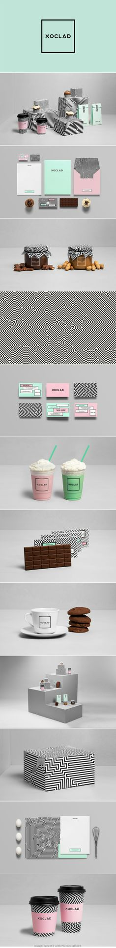 XOCLAD Identity and packaging design by Anagrama