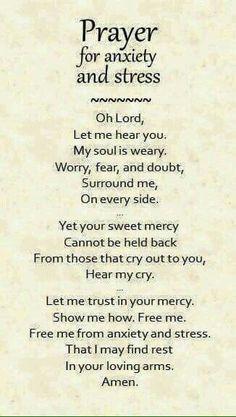 Prayer Re: Anxiety