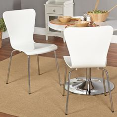 Target Marketing Systems Pavia Stackable Dining Side Chair - Set of 2, White