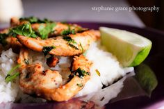 Cilantro Lime Chicken with Coconut Rice