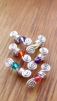 Loc Jewelry Spiral Sterling Silver wire and by kawaiiAdornments, £16.50