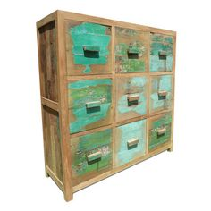 9 Drawer Cabinet Green, 895€, now featured on Fab.