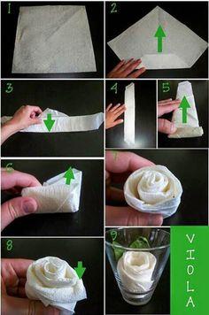 Cómo doblar servilletas con formas divertidas                              …