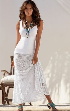 Crochet maxi skirt PATTERN crochet skirt por CONCEPTcreative