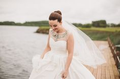 Lough Erne Resort  Falling In Love All Over Again ~ A Wedding Dress With a Pockets & Bib Necklace Beautiful Red Shoes… | Love My Dress® UK Wedding Blog