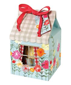 Take a look at this Floral & Gingham Single Cupcake Box - Set of Four by Meri Meri on #zulily today!