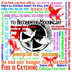 Ultimate Mockingjay Quotes HungerGamesGear.com Also available at: CafePress.com/HungerGamesGear Officially licensed designs for t-shirts and gifts for The Hunger Games, Catching Fire and Mockingjay! Get your Hunger Games Gear on! HungerGamesGear.com