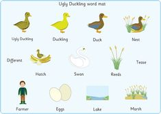 The Ugly Duckling Word Mats
