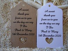 10-Kraft-Gift-Tags-Wedding-Favour-Bomboniere-Personalised-A-Sweet-Thank-You