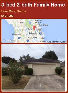 3-bed 2-bath Family Home in Lake Mary, Florida ►$154,900 #PropertyForSale #RealEstate #Florida http://florida-magic.com/properties/90790-family-home-for-sale-in-lake-mary-florida-with-3-bedroom-2-bathroom