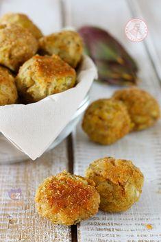 polpette di carciofi Low Carb Desserts, Low Carb Recipes, Cooking Recipes, Healthy Recipes, Healthy Food, No Salt Recipes, Veggie Recipes, Appetizer Recipes, Appetizers