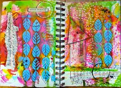 Made by Nicole: Mysterious Art Journal Page