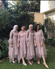 Dress Brokat Muslim, Dress Brokat Modern, Dress Pesta, Kebaya Muslim, Model Kebaya Brokat Modern, Dress Brukat, Batik Dress, Hijab Dress, Model Dress Kebaya