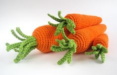 Free Pattern - Crocheted Carrots to go with bunny set
