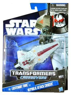 Star Wars 2010 Transformers Crossovers Commander Thire to Republic Attack Cru...
