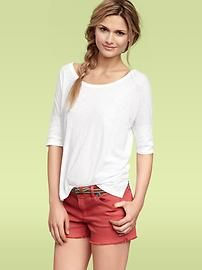 perfect summer tee. $19.95 The Gap  I would live in white t-shirts if I could.