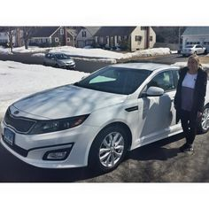 Congratulations to Stacey Suleski who just bought her 2015 Kia Optima EX from Billy Maki! Stacey was so excited to take delivery and couldn't be happier to have had Billy help her get into a new car! Welcome to the Gary Rome Kia family Stacey! We will see you at your first free oil change!  Www.GaryRomeKia.com or call us at (860) 253-4753  https://www.facebook.com/GaryRomeKia/photos/a.10152234008989899.1073741828.67758049898/10153778041529899/?type=1&theater