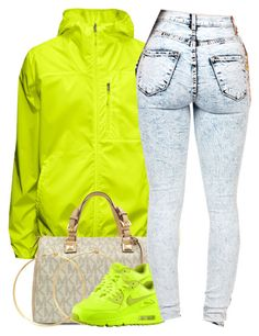 """February 26 , 2015"" by christina001 ❤ liked on Polyvore featuring Michael Kors, Charlene K and NIKE"