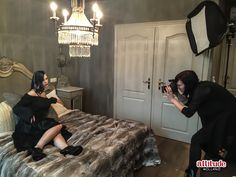 A behind the scenes pic of our new lookbook shoot ;) Chek out the Gothic Fantasy christmas lookbook at attitudeholland.nl