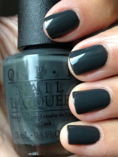 OPI Nail Polish - German Collection Nein! Nein! Nei!n Ok! Fine! Glossy dark grey (water color charcoal).