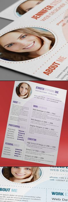 Circles Resume Template - I like the dotted lines