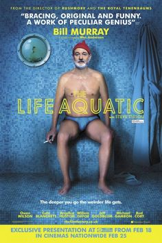 The Life Aquatic with Steve Zissou was okay. About Steve, an oceanographer who has found his never-met-before son and takes him out to finish the last half of a flop mockumentary. With the great Wes Anderson quirk, there was something oddly lacking about it. It was probably the emotions and how little engrossing the story was for me. Near the end did it get better, I felt. What I liked most about it was how involved Bill Murray was as the lead. Recommended for Wes Anderson fans~