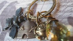 Charm Necklace Honey Bee Charm Necklace by enchantedsquirrel, $35.00