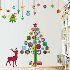 árbol de navidad sin árbol para poner en la pared y decorar para navidad christmas tree to hang on the wall