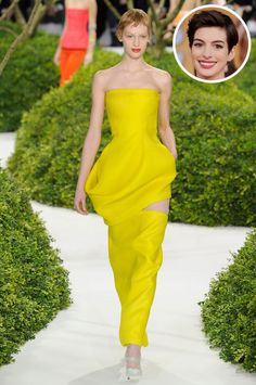 Anne Hathaway in Christian Dior Spring 2013 Couture