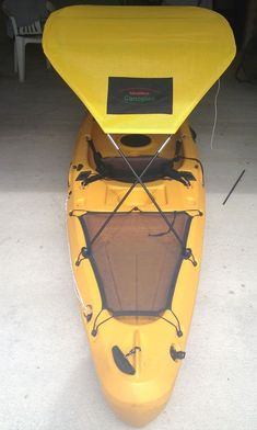 A kayak bimini! One accessory you need when you are kayaking! It feels 10 degrees cooler under there!