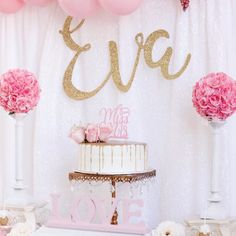 Bridal shower ideas, pink and gold party, pink cake topper, miss to mrs. Wedding shower ideas, baby shower ideas, shabby chic party, gold glitter decor