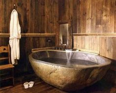 21 Natural Stone Bathtub Ideas for Your Classy Bathroom