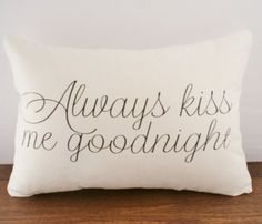 Goodnight Cushion Cover:}