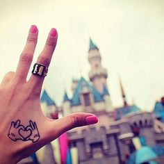 Mickey Mouse small tattoo