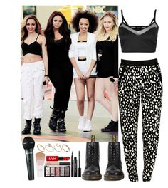 """""""5th member of Little Mix -performing"""" by elliefeatherstone ❤ liked on Polyvore featuring Topshop, Sea, New York, Dr. Martens, NYX and ASOS"""