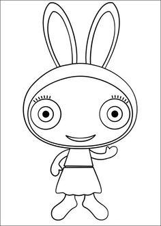 Waybuloo Fargelegging for barn. Tegninger for utskrift og fargelegging nº 2