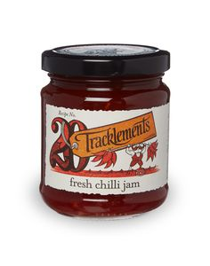 Tracklements Fresh Chilli Jam - delicious with fish, meats, pasta and cheese! Chilli Jam, Sweet Chilli, Sarnies, Creamy Cheese, Preserves, Nutella, Artisan, Yummy Food, Fish