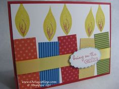 Like the candles fun card